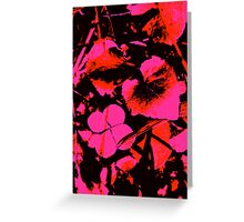 Pink Four-Leaf Clover Greeting Card
