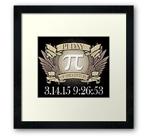 Excellent 'Ultimate Pi Day 2015 Crest' T-shirts, Hoodies, Accessories and Gifts Framed Print