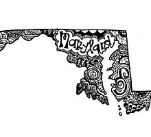 Maryland State Zentangle Outline by alexavec