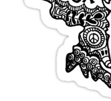 Maryland State Zentangle Outline Sticker