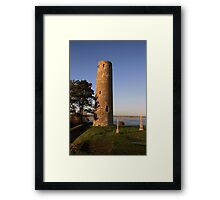 Clonmacnoise round tower Framed Print
