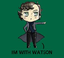 """""""I'm With Watson"""" Womens Fitted T-Shirt"""