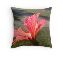 Red Hibicus Beauty Throw Pillow
