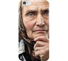 Old Romanian woman with kerchief iPhone Case/Skin
