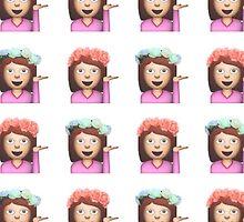 Sassy Hula Girl Emoji Pattern by Internet Noob