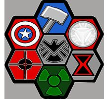 Avengers Assemble - Minimal Comic Hero Logo Photographic Print