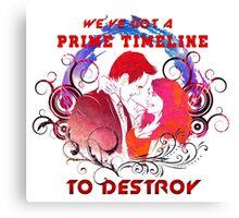 Community: Evil Jeff & Evil Annie The Darkest Timeline Canvas Print