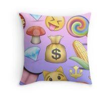 Mix Match Emoji Pattern  Throw Pillow