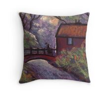 The old rustic bridge Throw Pillow
