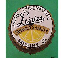 Summer Shandy bottle cap Photographic Print