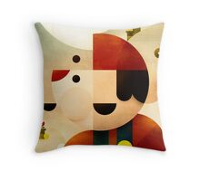 Lost in Marioland Throw Pillow