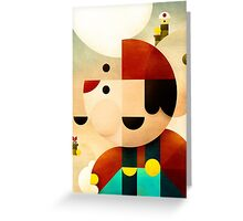 Lost in Marioland Greeting Card