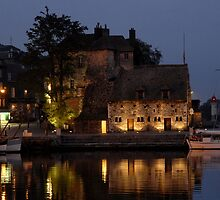 Lieutenance at dusk, Honfleur, Normandy by Johnabie