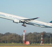 Cathay Pacific 777-300ER Departing Manchester Airport by PlaneMad1997