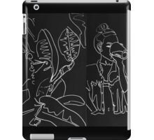 Girl Drinking With Leaves Doodle iPad Case/Skin