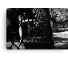 black fence  Canvas Print