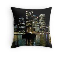 Brisbane city lights Throw Pillow