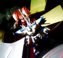 Gundams Advancing Over Desktop by Shadi N. Saber