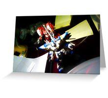 Gundams Advancing Over Desktop Greeting Card