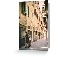 Window Shopping in Venice, Italy Greeting Card