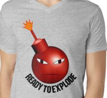 Ready To Explode (angry face) Mens V-Neck T-Shirt