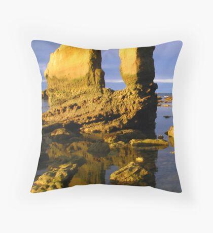 Gannets Rock Throw Pillow