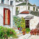 (Watercolour)                    SKOPELOS Greece  by Irene  Burdell