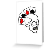 The ultimate poker face Greeting Card