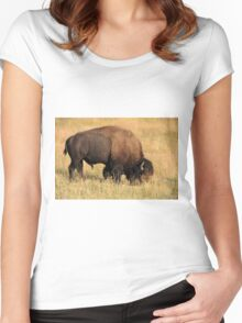 American Bison Women's Fitted Scoop T-Shirt