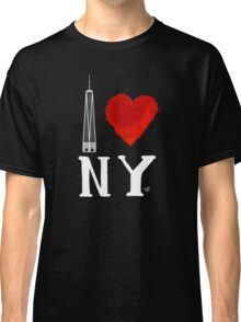I Love NY Freedom (wht) by Tai's Tees Classic T-Shirt