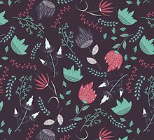 Fantasy flowers pattern by JuliaBadeeva