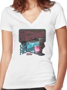 Maccadam's Women's Fitted V-Neck T-Shirt