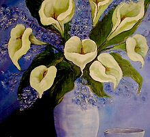 Lilies from my garden by Avril Brand