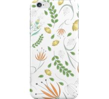 Floral white pattern iPhone Case/Skin