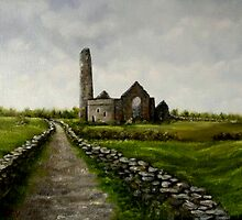 """""""Scattery Island Ruins - County Clare, Ireland"""" by Avril Brand"""