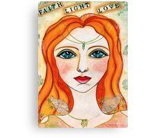 Faith, Light, Love Canvas Print