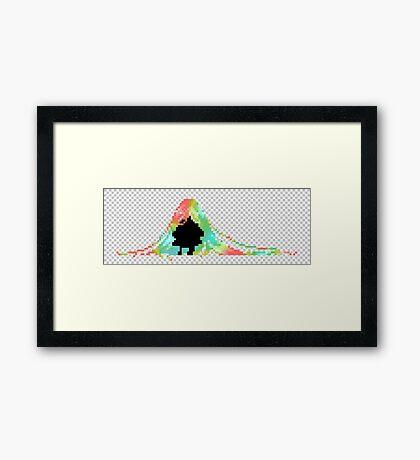 Pixelated Faceless Girl Framed Print