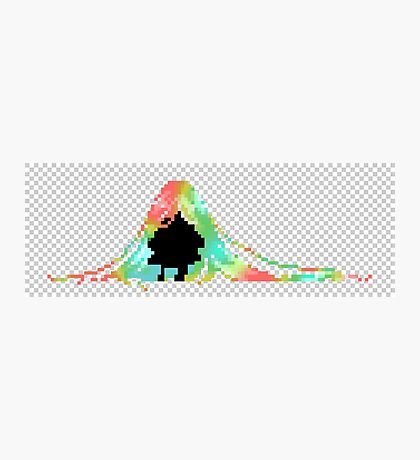 Pixelated Faceless Girl Photographic Print