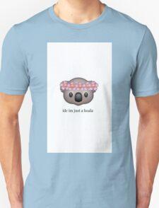 'idc im just a koala' Emoji Design Unisex T-Shirt
