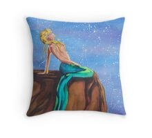 Mermaid's Moods: Stars Throw Pillow