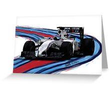 Williams Martini Racing Bo77as Greeting Card