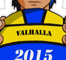 Valhalla Water Polo (Bluish Black Hair) Sticker