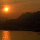 Sunset on Yangtze River by Merilyn