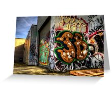 Back Alley Graffiti Art Greeting Card