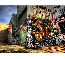 Back Alley Graffiti Art Photographic Print