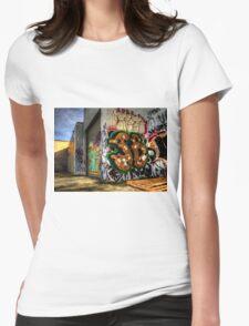 Back Alley Graffiti Art Womens Fitted T-Shirt