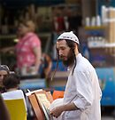 Meditating by Moshe Cohen