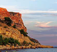 Sunset at Pointe des Lombards near Cassis, France by atomov