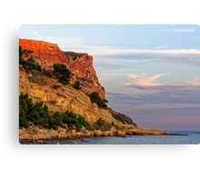 Sunset at Pointe des Lombards near Cassis, France Canvas Print