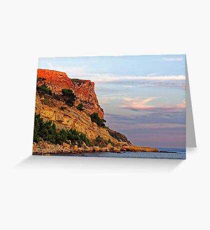 Sunset at Pointe des Lombards near Cassis, France Greeting Card